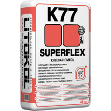 Клей плиточный SUPERFLEX K77 25кг