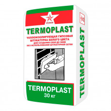 Русеан Термопласт гипсовая штукатурка белая 30кг