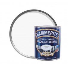 Краска по металлу Хамерайт (Hammerite) белая, полумат, 0,25л